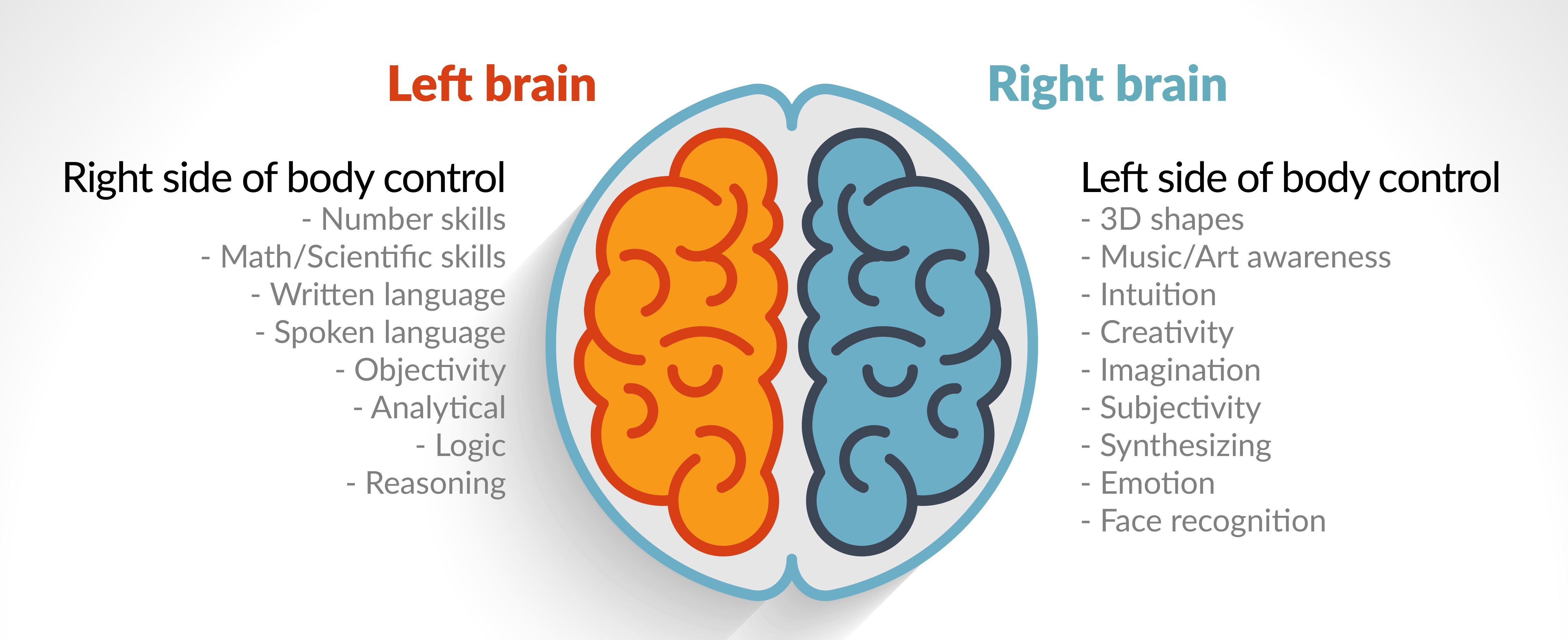 an overview of the right and left brain Living with a brain injury can require a range of resources, strategies, and supports, the range of which can be tremendous support needs may extend long after inpatient treatment has come to an end.